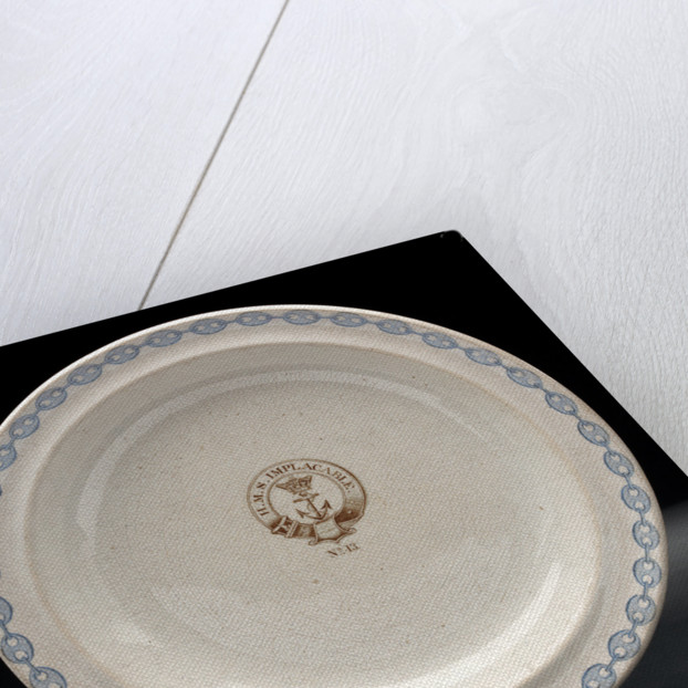 Earthenware mess plate by unknown