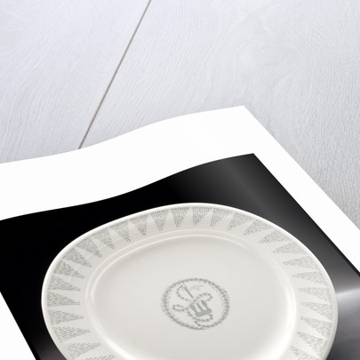 White plate by Josiah Wedgwood & Sons Ltd.