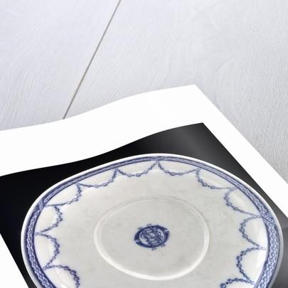 Porcelain saucer by W.T. Copeland & Sons Ltd.