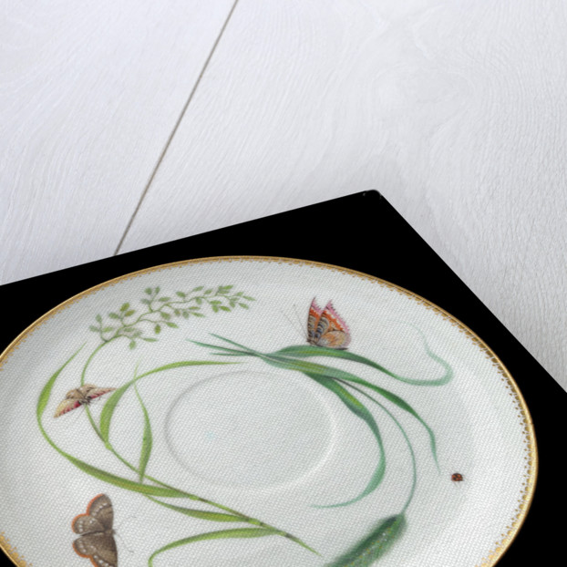 Saucer used on RY 'Alberta' (1863) by Worcester Royal Porcelain Co.