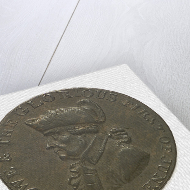 Emsworth halfpenny token commemorating Admiral of the Fleet Richard Howe (1726-1799) and the Glorious First of June, 1794; obverse by T. Wyon
