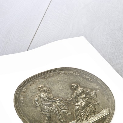 Medal commemorating the Battle of Copenhagen, 1801; obverse by D.F. Loos