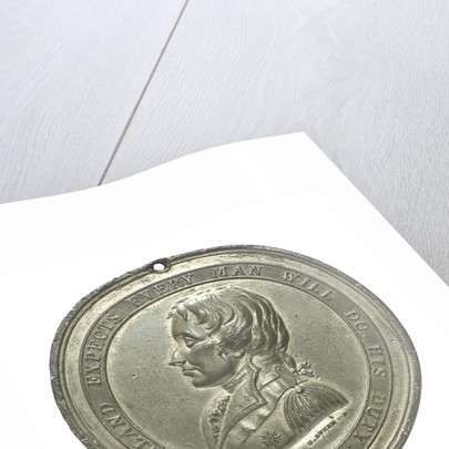 Commemorative medal depicting the Trafalgar Square Monument; obverse by E. Avern