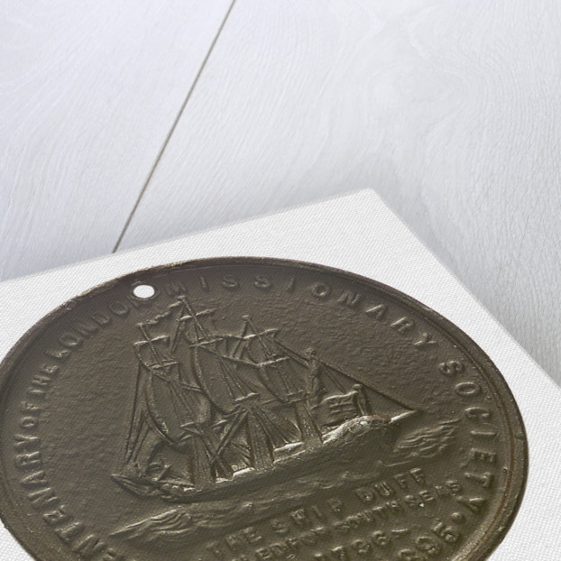 Medal commemorating the centenary of the London Missionary Society, 1895; obverse by unknown