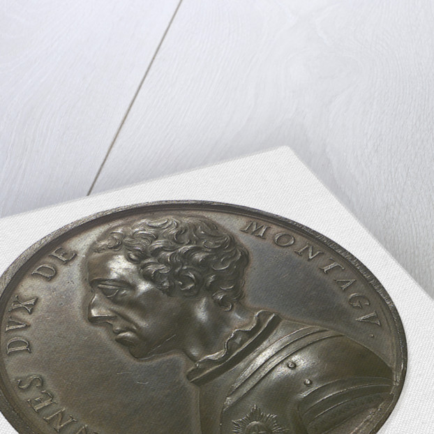 Commemorative medal depicting John, Duke of Montagu; obverse by J.A. Dassier