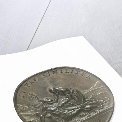 Commemorative medal depicting John, Duke of Montagu; reverse by J.A. Dassier