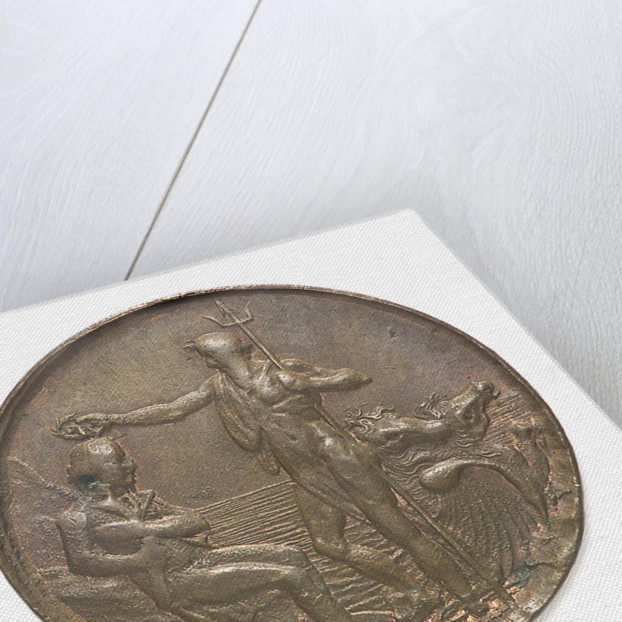 Portsmouth halfpenny token commemorating John Jervis, Earl St Vincent (1735-1823) and the battle of Cape St Vincent, 1797; reverse by T. Wyon
