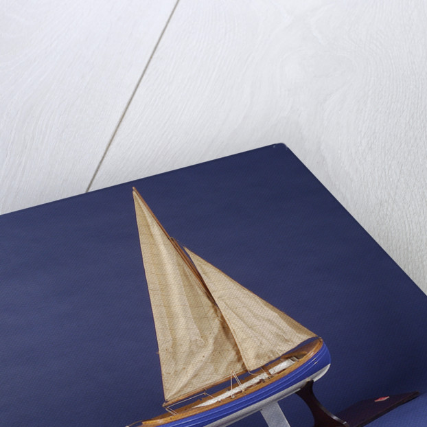 Full hull model, whaler, starboard stern quarter by unknown