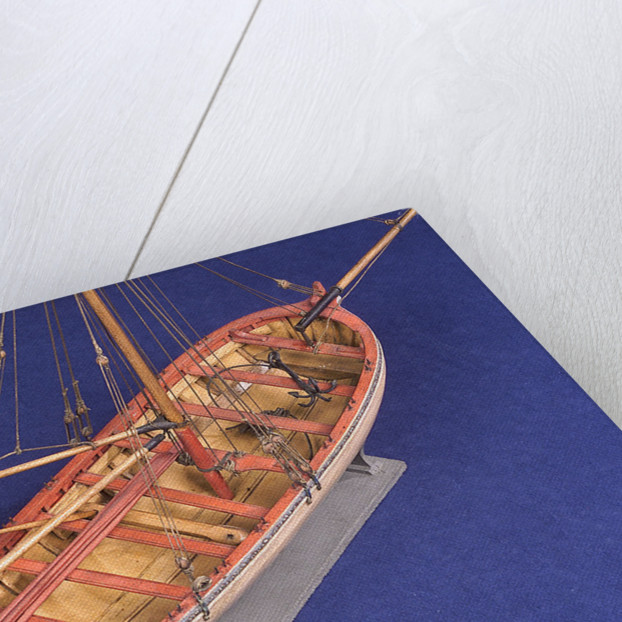 Ship's longboat; 'Medway', interior detail by unknown