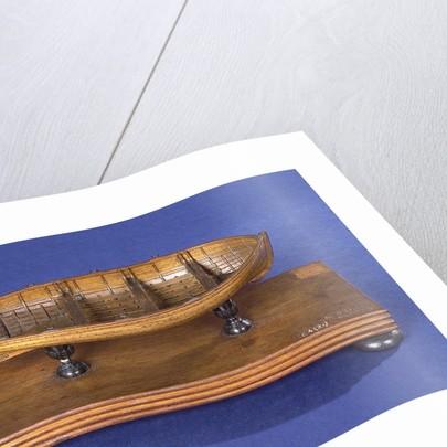 Dinghy, starboard broadside by unknown