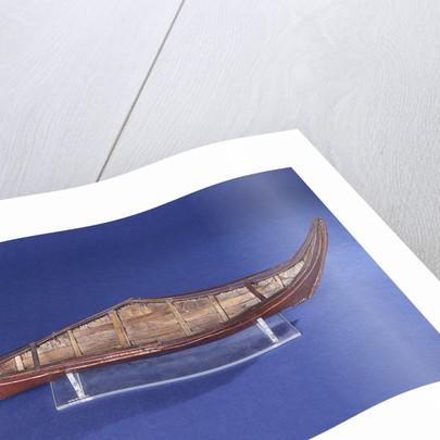 Ethnographic boat model by Nancy Shanawdithit