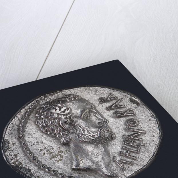 Denarius depicting head of L. Domitius Ahenobarbus by unknown