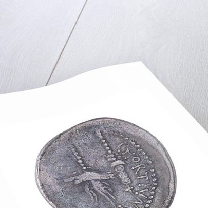 Denarius depicting galley and wreath by unknown