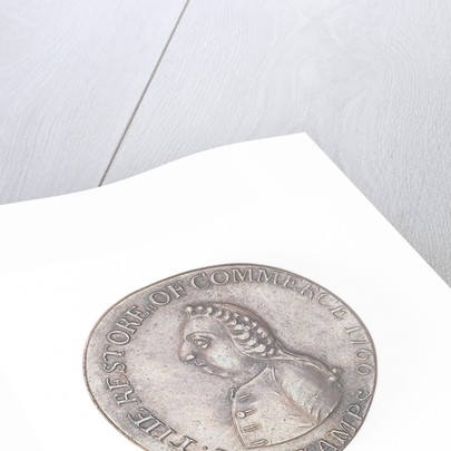 Halfpenny token commemorating the repeal of the Stamp Act, 1766 by unknown
