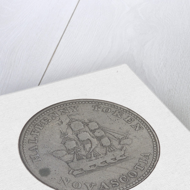 Nova Scotia halfpenny token by unknown