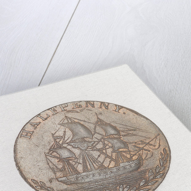 Token commemorating Admiral of the Fleet Richard Howe (1726-1799) and the Glorious First of June, 1794 by T. Wyon