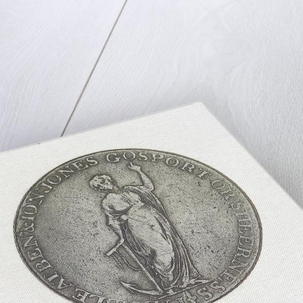 Gosport halfpenny token by J. Pitt