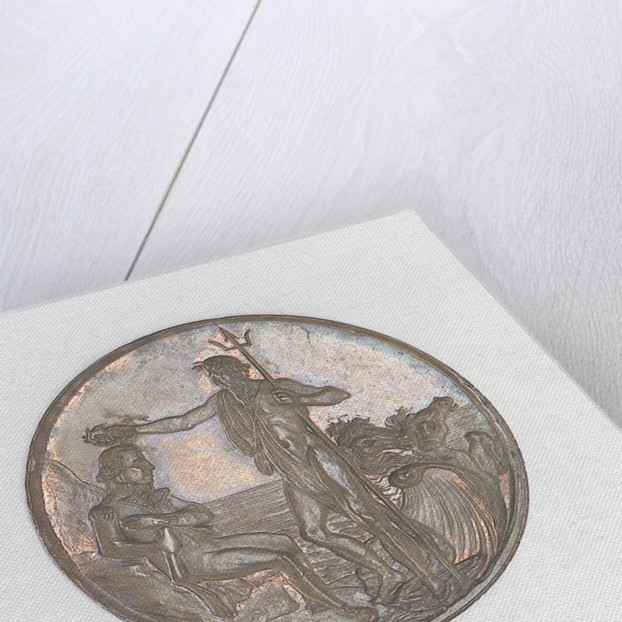 Portsmouth halfpenny token commemorating John Jervis, Earl St Vincent (1735-1823) and the battle of Cape St Vincent, 1797 by T. Wyon