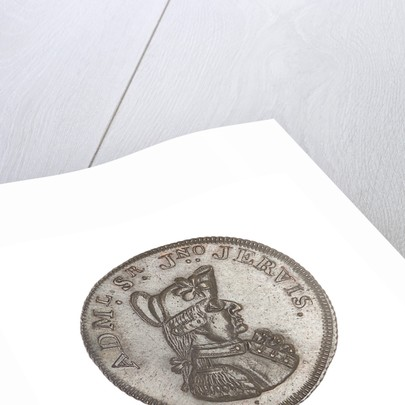 Promissory naval farthing token commemorating John Jervis, Earl St Vincent (1735-1823) by T. Wyon