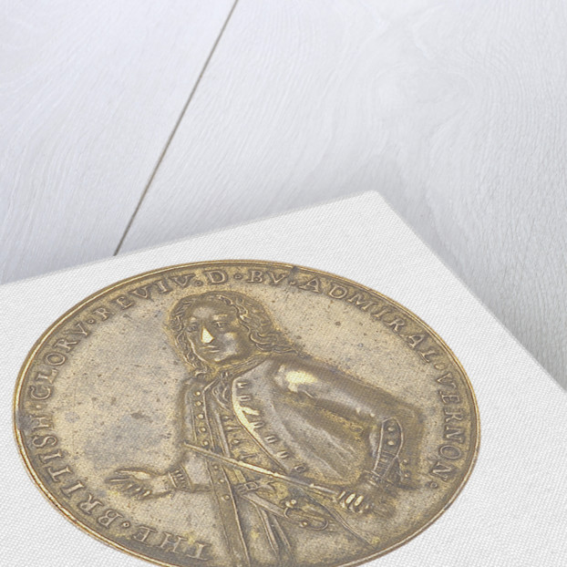 Medal commemorating depicting Admiral Vernon and the capture of Porto Bello, 1739 by unknown