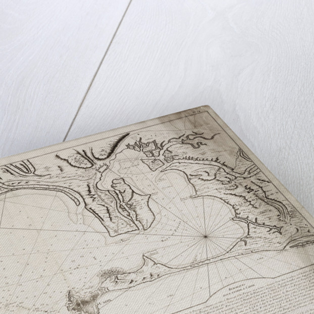 Hydrographic chart of the Bay of Cadiz by Jacques Nicolas Bellin