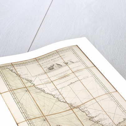Map of the southwest of Africa, 18th century by Departement de la Marine