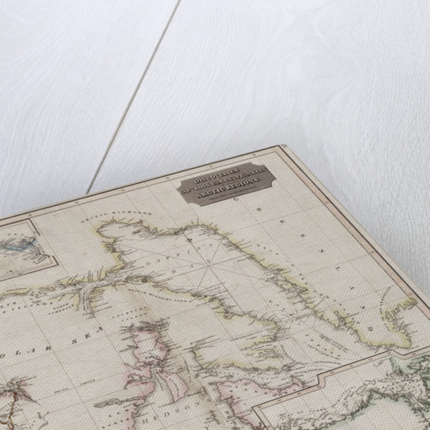 Chart showing discoveries of Ross, Parry and Franklin in the Arctic during 1818-1827 by Thomson