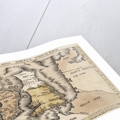 Map Of England Ireland And Scotland Posters Prints By Ptolemy - Pars map