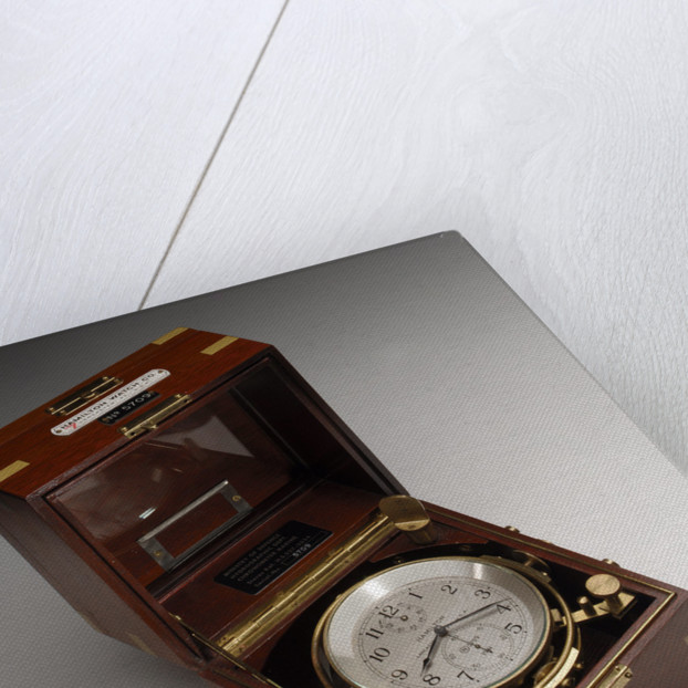 Marine chronometer in case by Hamilton Watch Co.