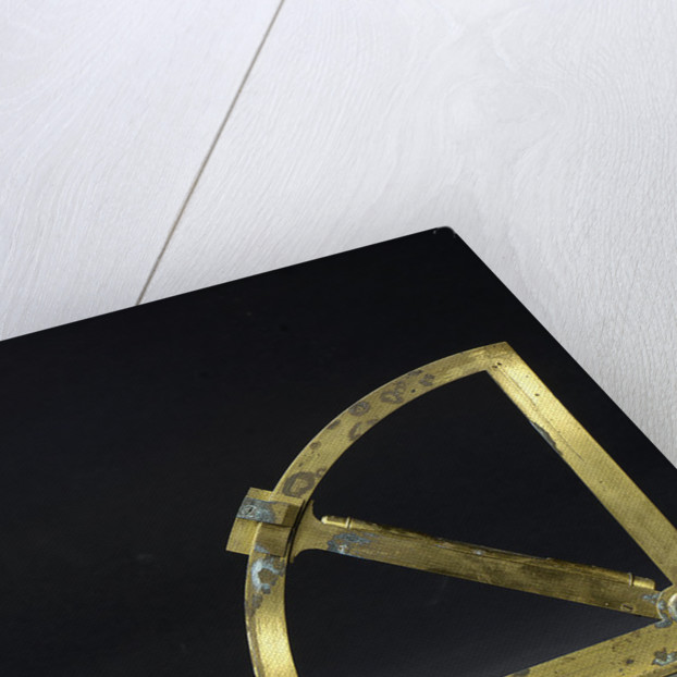 Reverse of Gunner's quadrant by George Adams