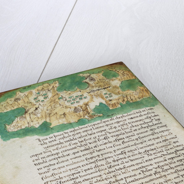 Chart of Ithaki by Cristoforo Buondelmonti