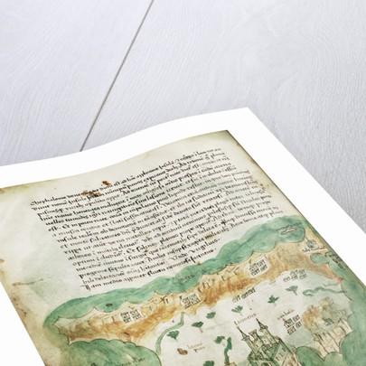 Chart of Zakinthos by Cristoforo Buondelmonti