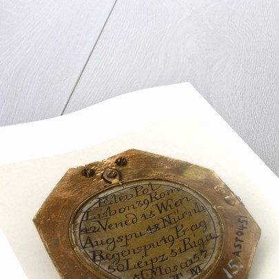 Augsburg dial, underside by Ludovicus Theodatus Muller