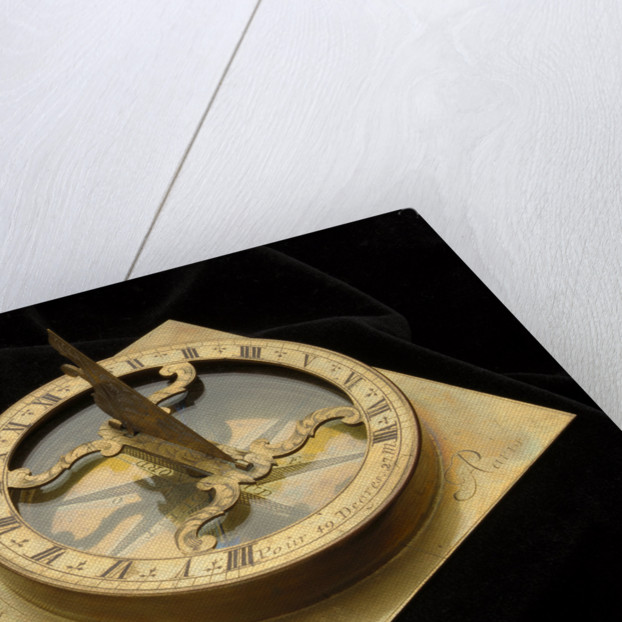 Portable horizontal dial for latitude 49 27' north by Claude Delure