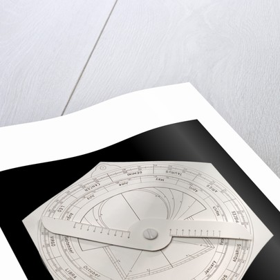 Model astrolabe, reverse by Harold N. Saunders