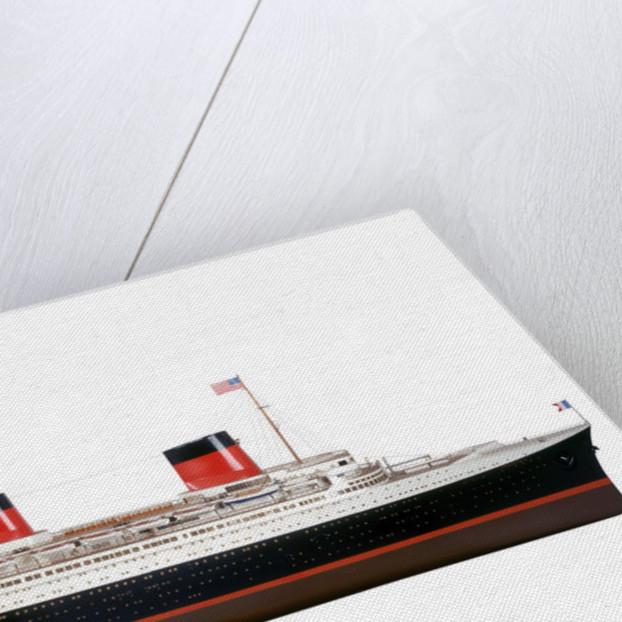 Passenger liner SS 'Normandie' (1932) by J. Montera