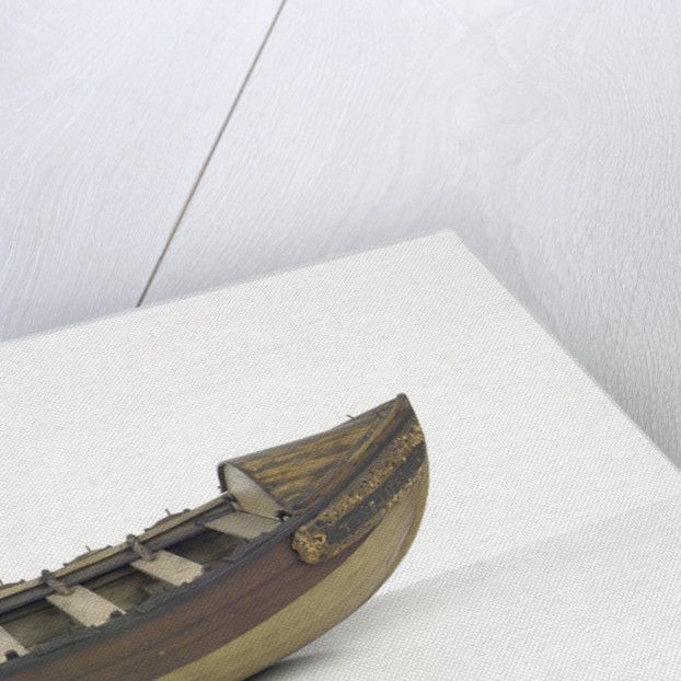 Full hull model, lifeboat, broadside by unknown