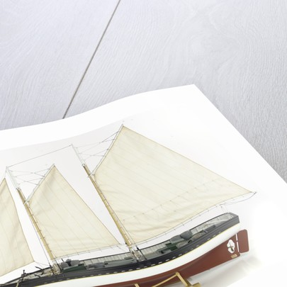'Katie N', port broadside by Varrick F. Cox