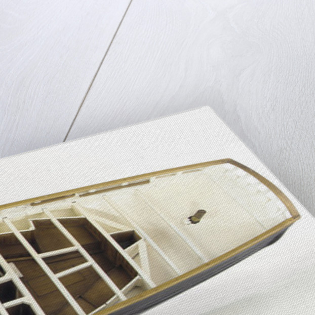 Accommodation model, yacht, overhead view of cabins by unknown