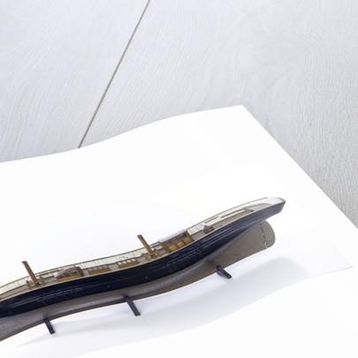 Accommodation model, yacht, port broadside by unknown