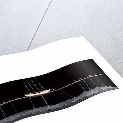 'Argus', starboard broadside, scenic model by Kenneth Britten