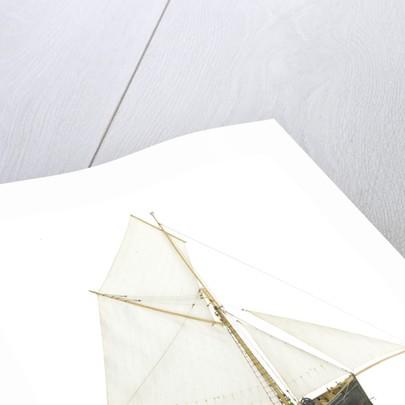 'Gwendoline', starboard broadside by John Roe
