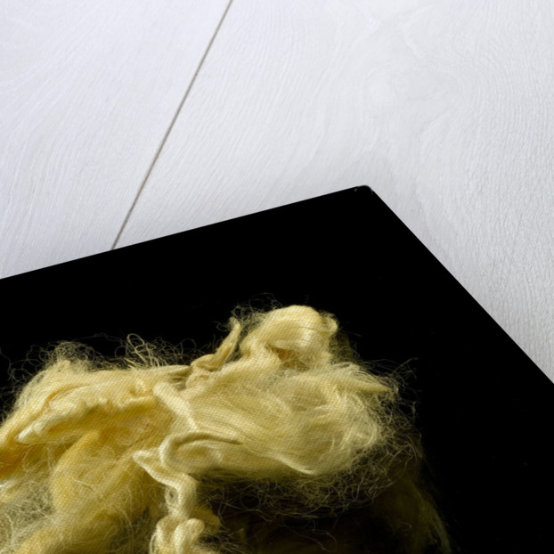 Two skeins of raw silk in an envelope by unknown