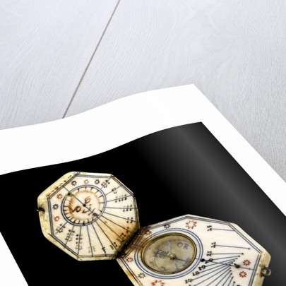 Diptych dial, leaves Ib and IIa by Nicolaus Miller