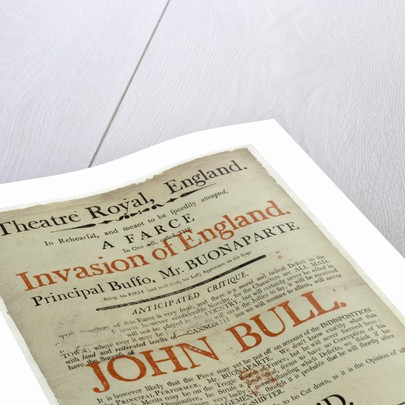 Anti-French invasion propaganda poster by Matthew Boulton