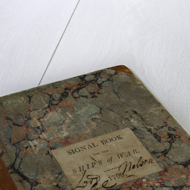 Front of signal book for the ships of war, showing Nelson's signature by Admiralty
