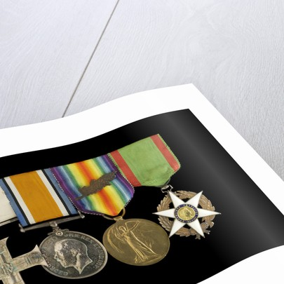 Medals awarded to Lieut Michael Isaacs MC RNVR (obverse, l to r, MED2606-2609) by unknown