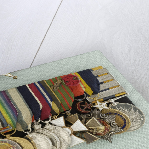 Medals awarded to Admiral of the Fleet, Earl David Beatty (obverse, left to right, MED2214-27) by W. Wyon