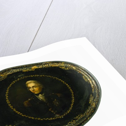 Tray commemorating Vice-Admiral Horatio Nelson (1758-1805) by Lemuel Francis Abbott
