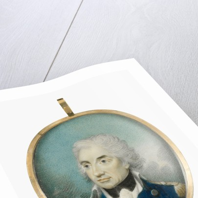 Miniature painting depicting Vice-Admiral Horatio Nelson (1758-1805) after Lemuel Francis Abbott by Lemuel Francis Abbott